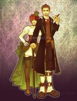 CM: steampunk couple by Lady-Werewolf