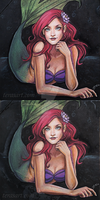 Ariel Chalk Art by tbdoll