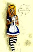 WIP Alice in wonderland by Littlejunko