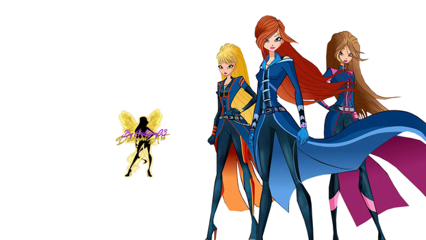 WoW Bloom, Stella and Flora Spy Style Png by Gallifrey93