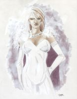 Emma Frost sketch by gravyboy