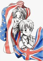 Hetalia: America and Britain by AOEmpires