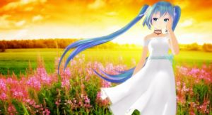 MMD - Miku TDA White Dress Sunset (Edited Ver.) by MikuHatsune01