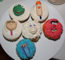 Muppets Cupcakes by picworth1000wrds