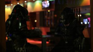 An Alien And Predator Walk Into A Bar.......... by PedroTpredator