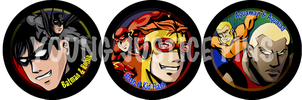 Young Justice Pins set 1 by EvilFuzz