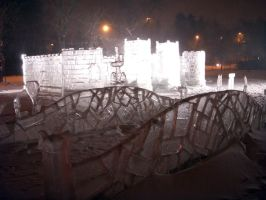 Ice Bridge,  Castle and Garden by sculptin