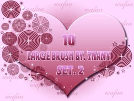 10 LARGE BRUSH _SET 2 by 7nany