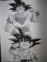 Goku's Evolution by obsessive-fan-girl