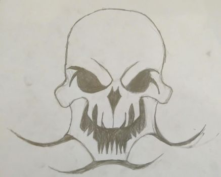 Sharp Skull by CRYPTICDrawing