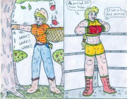 Boxing - Human Applejack Training by Jose-Ramiro