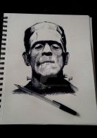 Boris Karloff 'Frankenstein' by A-L4ND4LL