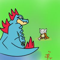 Feraligatr Vs Marowak by JotaPe1993