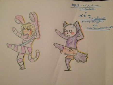 Kill me baby x Popee the performer by InkIncorporated0