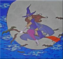 Witch Line Art Vector Project by WDWParksGal