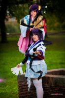 Kouhime and  Ran by fabiohazard