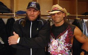 HHH and HBK in backstage by batuffolo