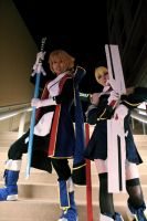 Blazblue: Jin and Noel by gacktstream