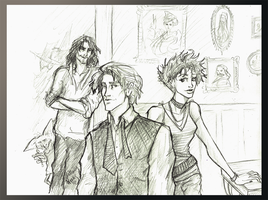Remus Tonks and Sirius by Hillary-CW