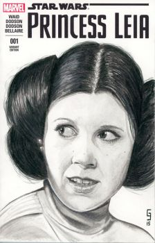 Leia Sketch Cover by Geekincognito