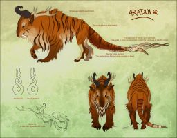 Ref Sheet: Aradui by Khezix