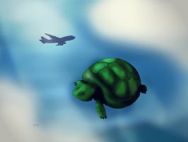 Flying Turtle by samwdean