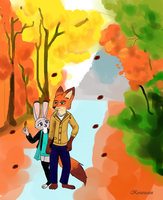 Walking in the Autumn by Koraru-san