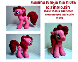 MLP_Giggling_PinkiePie_Plush by anotherclichejrocker