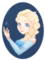 Elsa - Frozen by sleepypandie