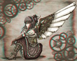 Winged Lady 3-D conversion by MVRamsey