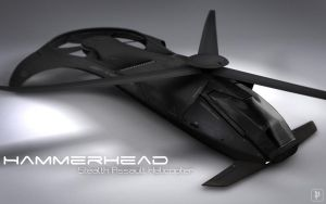 Hammerhead Stealth Assault Helicopter by soongpa