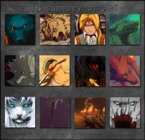 2012 Summary of art by Grypwolf