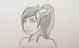 Draenei - Sketch by TheChiza