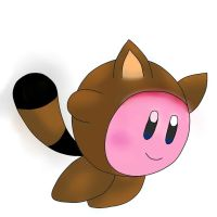 Tanooki Suit Kirby by Mipoloarchiletti