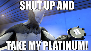 Shut up and take my Platinum SFM version by Mcl-The-Blue-Madness