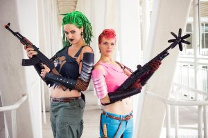 Zanya and Zarana by Sekhmet-the-eye