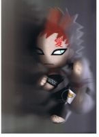 My Gaara Plushie by a-lazy-daisy