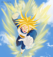 Trunks Super Saiya-jin by Meeldin