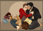 Baby Woofs and Sterek by DeathByGnome