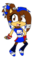 Samantha's Sonic boom outfit ^^ by DJDeryathehedgegie