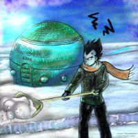 Vegeta -snowday by vegetto-vegito