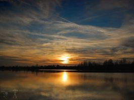 Sunset at the lake by morpheus880223