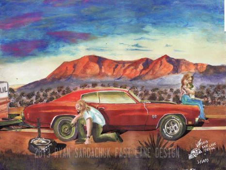 The Life Story Of A 1970 Chevy Chevelle (Part 8) by FastLaneIllustration