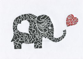 Jim the Lovestruck Elephant by intergrated-squish