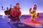 Daily Paint 1486. Muletide by Cryptid-Creations