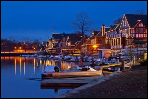 Boathouse Row 2.20.11 - 1 by ryangallagherart