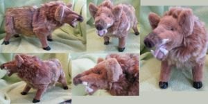 Golden Boar Plush Toy by Jarahamee