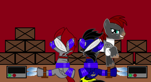 Star Bolt and Shadow Thunder - Tied up and Tickled by Imp344