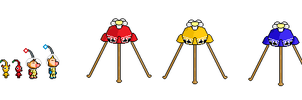 custom pikmin sprite preview 2 by Ryanfrogger