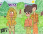 Penny Meets Leonard and Sheldon, 1977 by Toongrrl